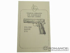 Weapons Operation and Maintenance Military System Polish Radom P35 (Reprint)