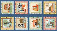 MAKOWER tessuto Pannello Crafty GATTI-Ideale per Patchwork Quilt