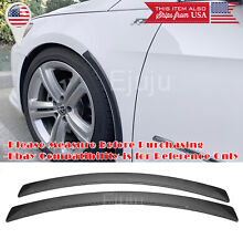 2 Pc Carbon Flixable Fender Flare Wheel Wall Panel Protector Fit VW Porsche Audi