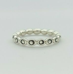 Ladies Ring Silver (925) Beaded Dress Ring