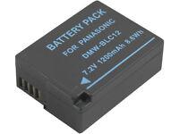 New 2pcs DMW-BLC12 BLC12E Battery + Charger For DMC-FZ1000 DMC-FZ2000 GH2 GX8