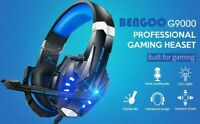 Gaming Headset Deep Bass Stereo Game Headphone with Microphone LED Light for PS4