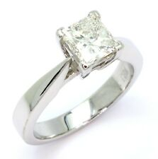 1.01ct Princess Cut Diamond 18ct White Gold Engagement Ring - Size I