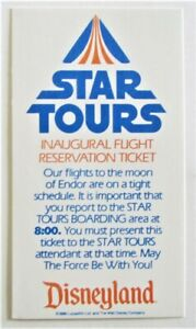 DISNEYLAND STAR TOURS INTERPLANITARY LAUNCH RESERVATION Pre-opening 1-7-1987