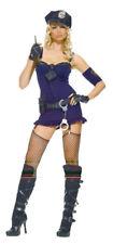New Corrupt Police Cop Suspender Dress Leg Avenue Costume M/L UK 10-12 Hat Glove
