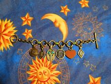 Lucky Brand Charm Bracelet mixed charms with sodalite