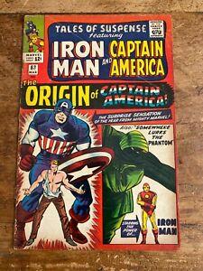 TALES OF SUSPENSE #63 MARVEL COMICS 1964 Silver Age ORIGIN CAP AMERICA i