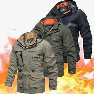Mens Warm Winter Waterproof Military Jackets Hooded Combat Outdoor Tactical Coat