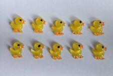 X10 Easter Chick embellishments - resin flatbacks - Easter Duckling - hair bow