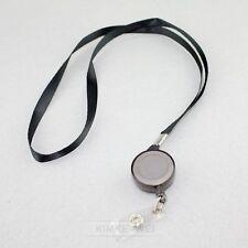 3x Black Retractable Lanyard Reel Nylon Cord for ID Card Key Badge Holder New