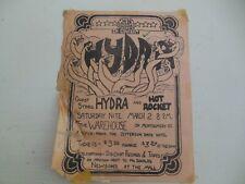 Vintage Hydra & Hot Rocket Concert Handbill Rock Poster Montgomery Alabama