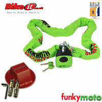 SOLD SECURE MOTORBIKE GOLD APPROVED 1.8M CHAIN LOCK & ATOM GROUND ANCHOR PACK
