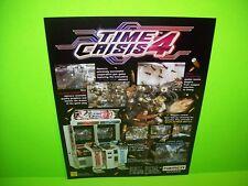 Namco TIME CRISIS 4 Original 2005 Video Arcade Game Promo Sale Flyer Gun Shooter