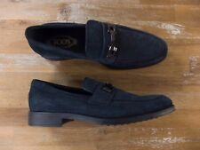 TODS loafers blue suede Italy authentic Size 11 US / 10 UK / 44.5 EU New in Box