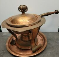 Joseph Heinrichs Sterling Silver And Copper Chafing Dish