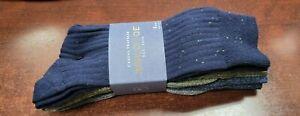 Gold Toe Goldtoe Men's Casual Traveler Crew Socks 4 Pair Size 6-12.5 Blue/Gray