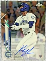 KYLE LEWIS 2020 Topps Chrome RC Base AUTO RA-KL Seattle Mariners Rookie Card🔥