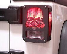 Xprite Tail Light Guard Covers Trim For 2007 2018 Jeep Wrangler Jk Skull Pattern Fits Jeep