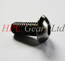20 x M3 x 16 mm BUTTON Socket Head Cap viti Allen Nero HT acciaio 10.9 Pack HPC