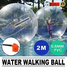 2m Water Walking Walker Ball Inflatable PVC Roll Ball Tizip zippe Activity