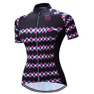 Women's Cycling Jersey Clothing Bicycle Sportswear Short Sleeve Bike Shirt J08