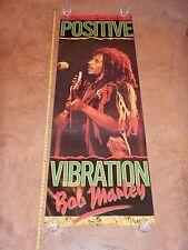 "ORIGINAL 1988 BOB MARLEY POSITIVE VIBRATIONS LARGE DOOR POSTER, 26"" X 74"""