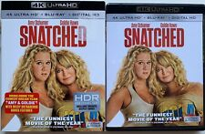 SNATCHED 4K ULTRA HD BLU RAY 2 DISC SET + SLIPCOVER SLEEVE FREE WORLD SHIPPING