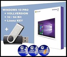 MS WINDOWS 10 PRO - Lizenz KEY - 32 / 64 Bit Vollversion + USB Stick (bootfähig)