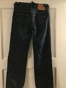 Boys levis 505 jeans in dark wash size 10 regular New