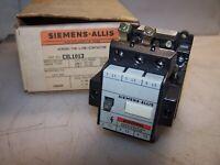 SIEMENS 60 AMP FUSED NEMA SIZE 1 COMBO MOTOR STARTER 120V COIL SXLCO
