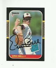 Autographed Baseball Card - ERIC BELL - Baltimore Orioles - 1987 Donruss R/R