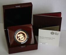 2017 Queen Elizabeth II Gold BU 5 Sovereign Peice + Boxed / COA