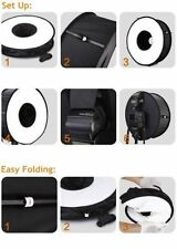 Round Universal Collapsible Magnetic Ring Flash Diffuser Soft Box 45cm/18""
