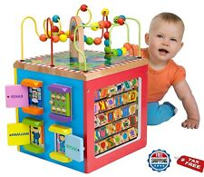 Educational Toys For 1 Years Old Activity Cube Wooden Toddler Learning Boys Girl