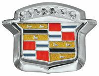 RestoParts Trunk Lock Crest Emblem Set 1964-1968 Cadillac DeVille Eldorado