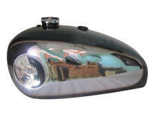 BSA GOLD STAR BLACK PAINTED CHROME GAS FUEL PETROL TANK WITH FUEL CAP -BRAND NEW