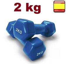 2X Mancuernas pesas de 10 KG total ejercicio gimnasio Pesas de disco