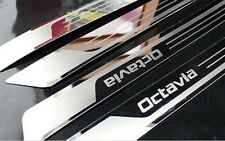 SKODA OCTAVIA doorsills per VRS TDI TSI DSG METAL RS PLACCA CROMATA