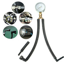 Universal Fuel Pressure Tester Gauge Analogue Gasoline MPa Hose Adapter Tube kit