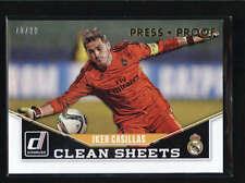 IKER CASILLAS 2015 DONRUSS CLEAN SHEETS GOLD PRESS PROOF #70/99 AB6708