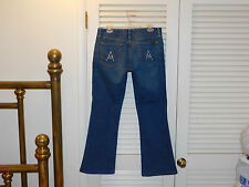 "7 FOR ALL MANKIND JEANS ""A"" Pockets Bootcut 32x30 Blue Denim USA Made   C"