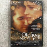 OTOÑO EN NUEVA YORK RICHARD GERE WINONA RYDER  DVD NUEVO NEW PRECINTADO