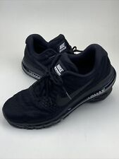 Nike Air Max 2017 Running Shoes Triple Black 849559-004 Men's Size 14 Used Nice
