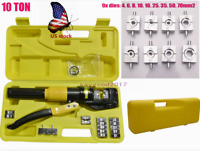 US 10T Hydraulic Pliers with Hydraulic Crimping Tool Kit 4-70mm Cable Crimper