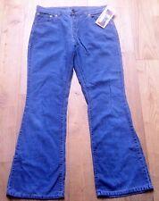 LEVI'S 1970s WOMEN BELL BOTTOM PANTS~HIGH WAIST~BLUE CORDUROY~MINT VINTAGE~34x31