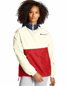 Champion Jacket Quarter Zip Packable Colorblocked Water Wind Resistant Scuba