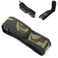 1pc Camouflage Nylon Holster Holder Belt Pouch Case Bag for C8 Q5 LED Flashlight