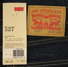 Levis 527 Jeans Mens New Slim Boot Cut Size 30 x 32 BLACK INDIGO Levi's #147