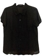 Liz Claiborne Sheer Polka Dot Blouse Size 12