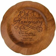 Personalized 10th Wedding Anniversary Plate Gift for Her Happy 10 Year Annive...